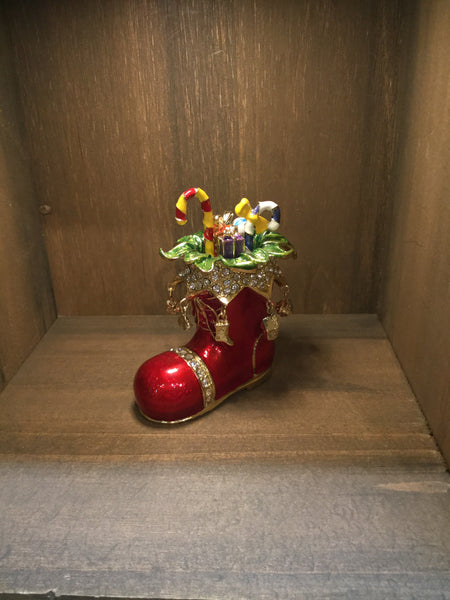 Boot Filled with Presents Trinket Box