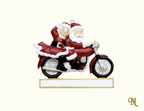 Mr & Mrs Claus Motorbike