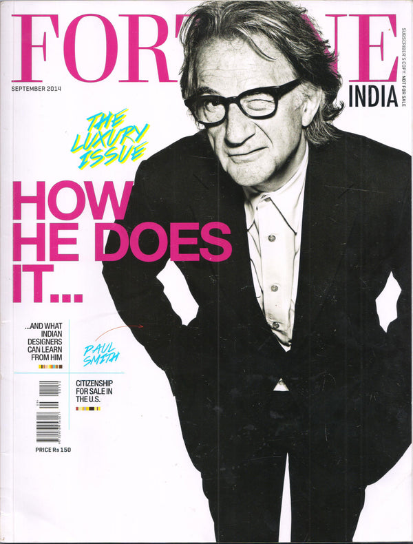 Fortune India September 2014 ~ Indigo Dyeing