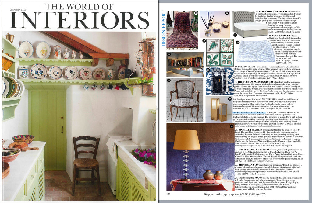 world of interiors july2017 satayam