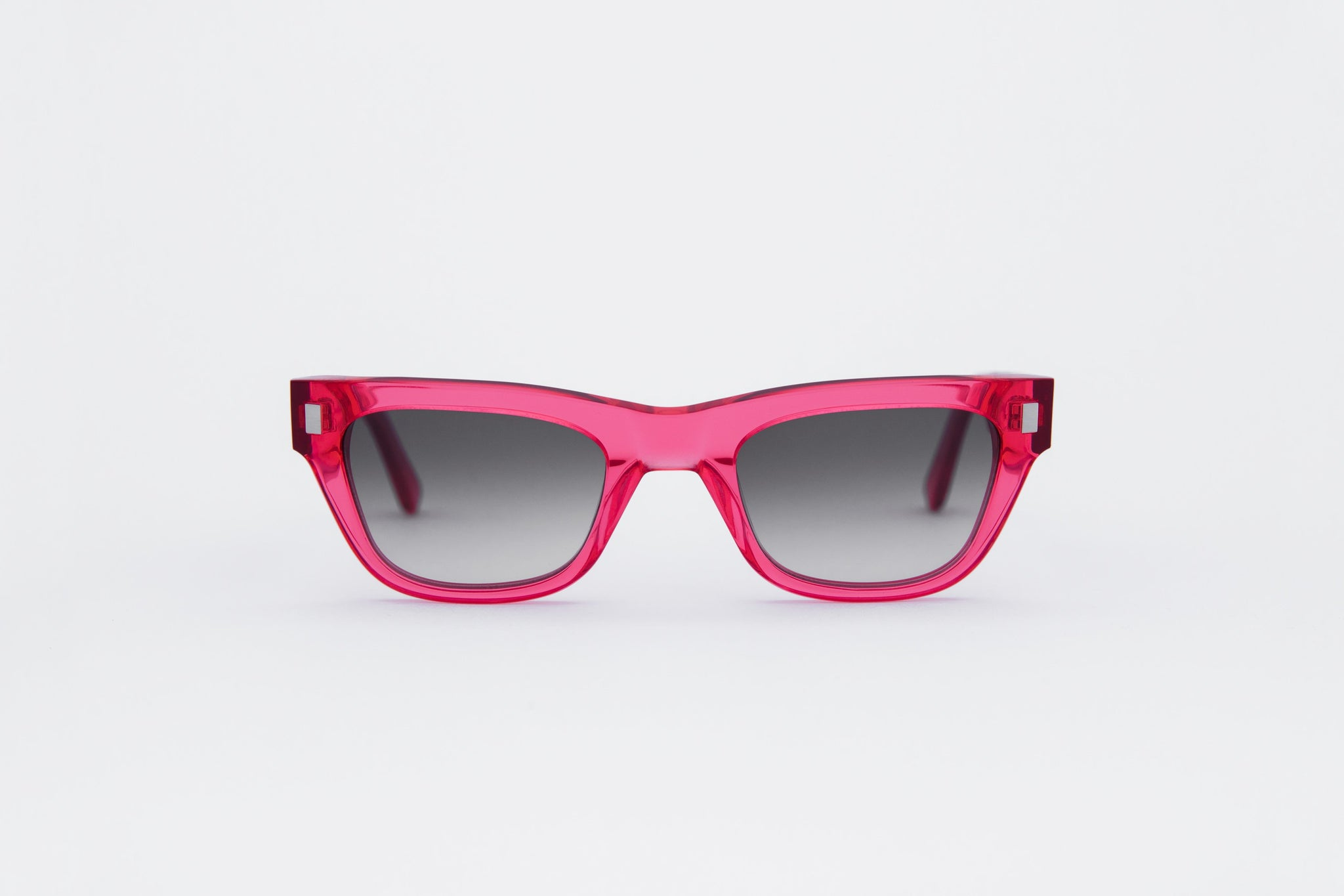 monokel eyewear sunglasses aki clear red