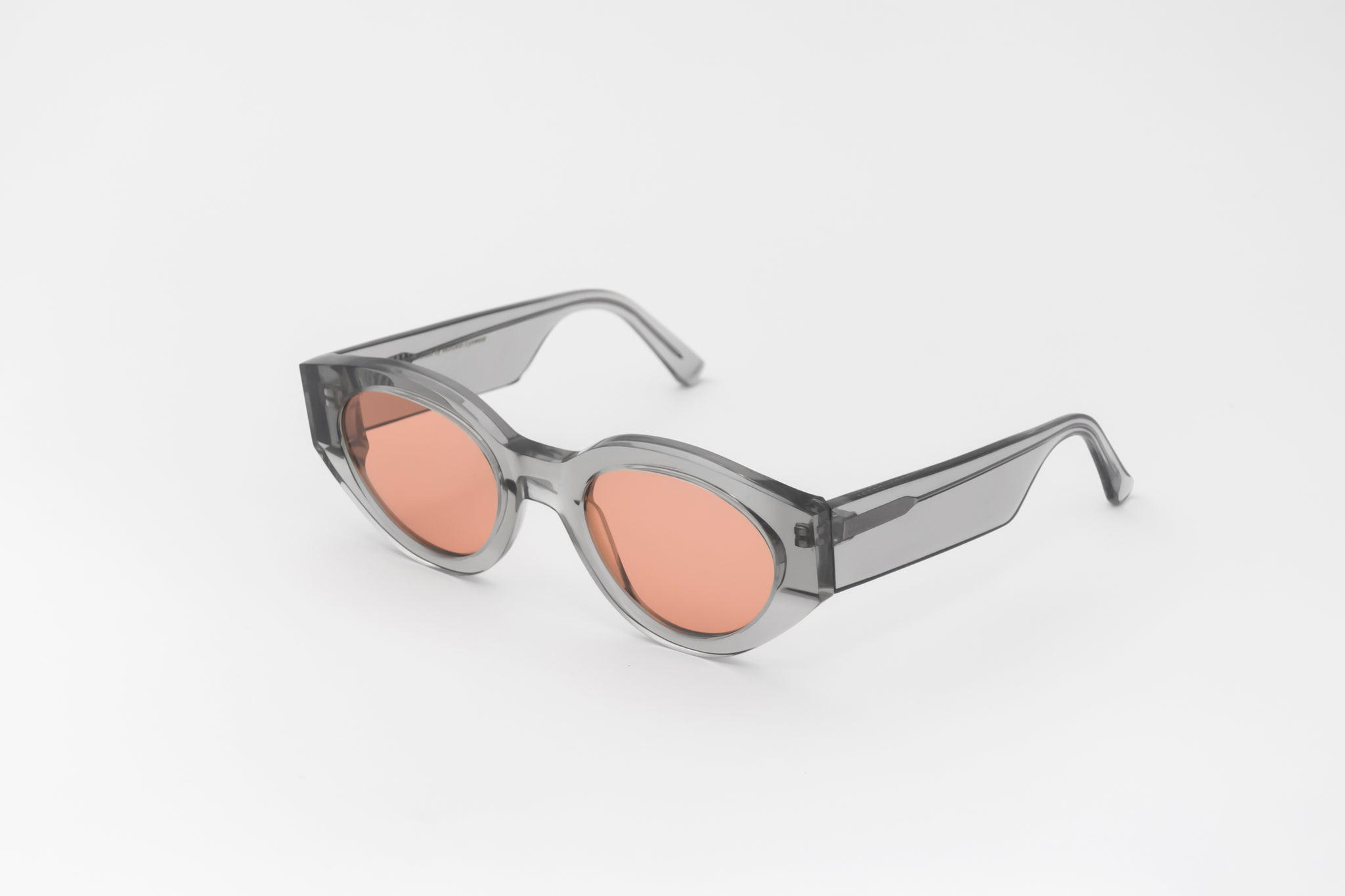 monokel eyewear sunglasses polly grey / orange solid lens