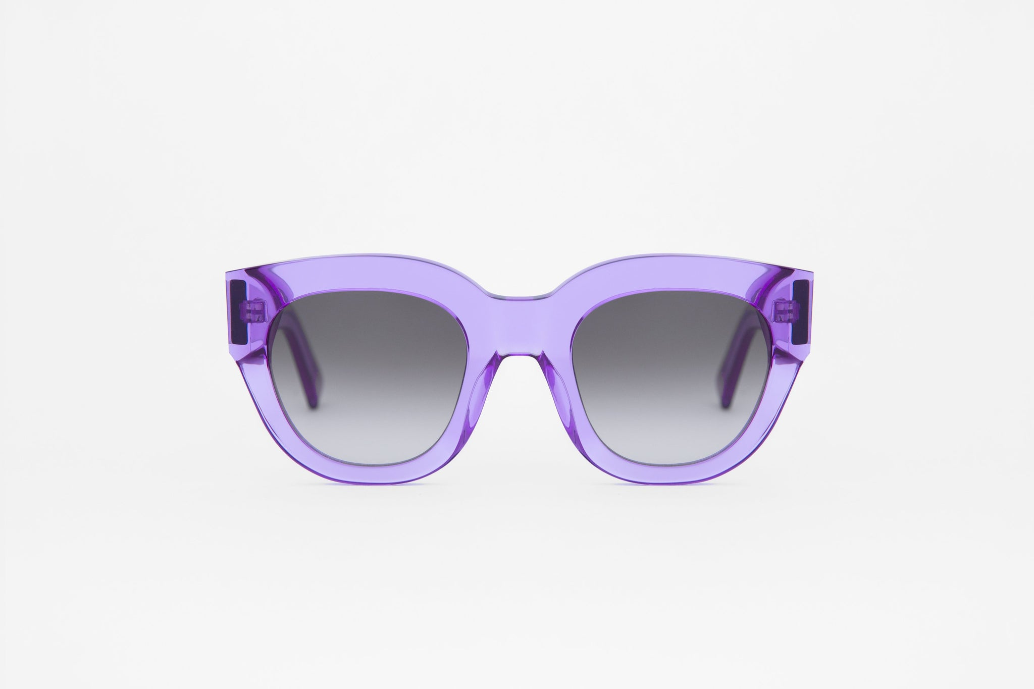 monokel eyewear sunglasses cleo clear purple