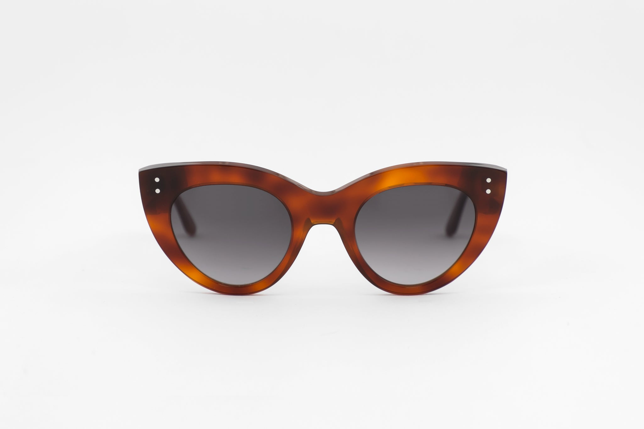 monokel eyewear sunglasses june amber / grey gradient lens