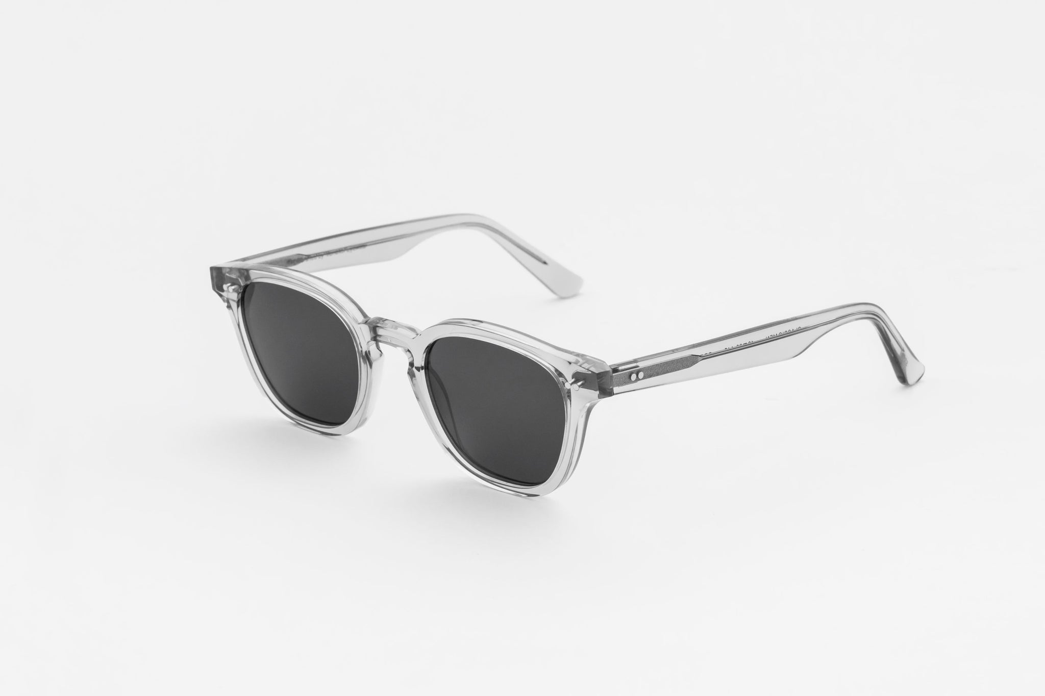 monokel eyewear sunglasses river grey / grey solid lens