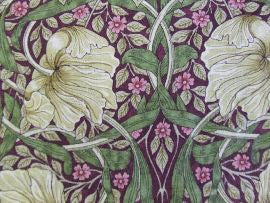 =Pimpernel 224491 Aubergine/Olive William Morris