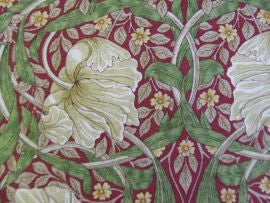 #Pimpernel 224493 Red/Thyme William Morris