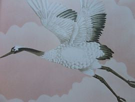 *Cranes in Flight 111232 Blush  Harlequin