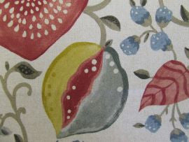*Peas and Pods 225357  Cherry/Linen  Sanderson