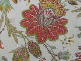 =Casimir F4235/01 Red/Green  Colefax and Fowler