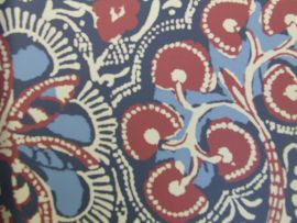 Thibaut T88716 Cochin Navy and Red