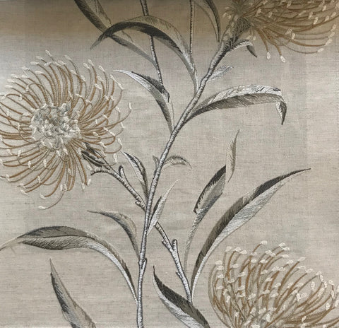 Sanderson Fabric Catherinae Embroidery Hay 237188
