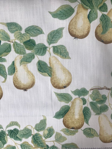 Sanderson Fabric Perry Pears Ochre/ Leaf Green 226735