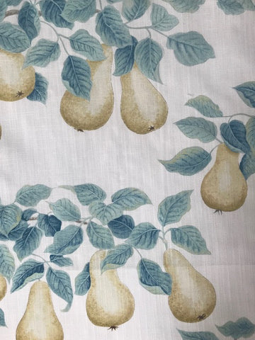 Sanderson Fabric Perry Pears Gold /Aqua 226734