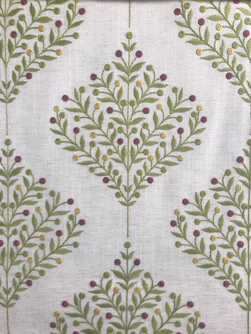 Sanderson Fabric Orchard Tree Lime 237185