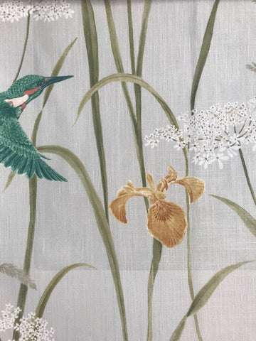 Sanderson Fabric Kingfisher & Iris Teal/Amber 226731
