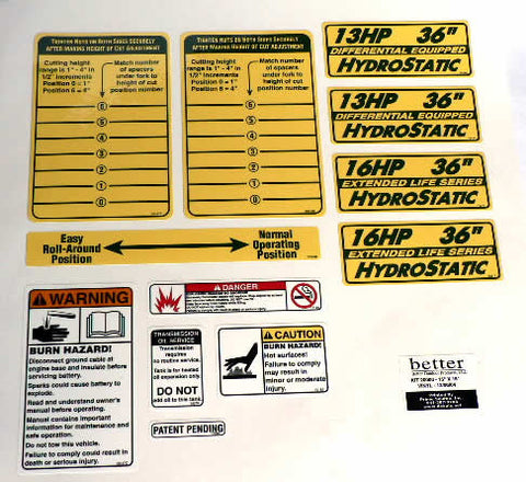 10399  Universal Power Unit Decal Kit/NO LONGER AVAILABLE