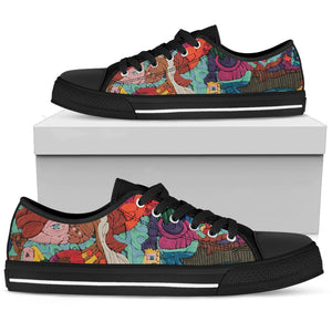 Claymation woman's low top shoe