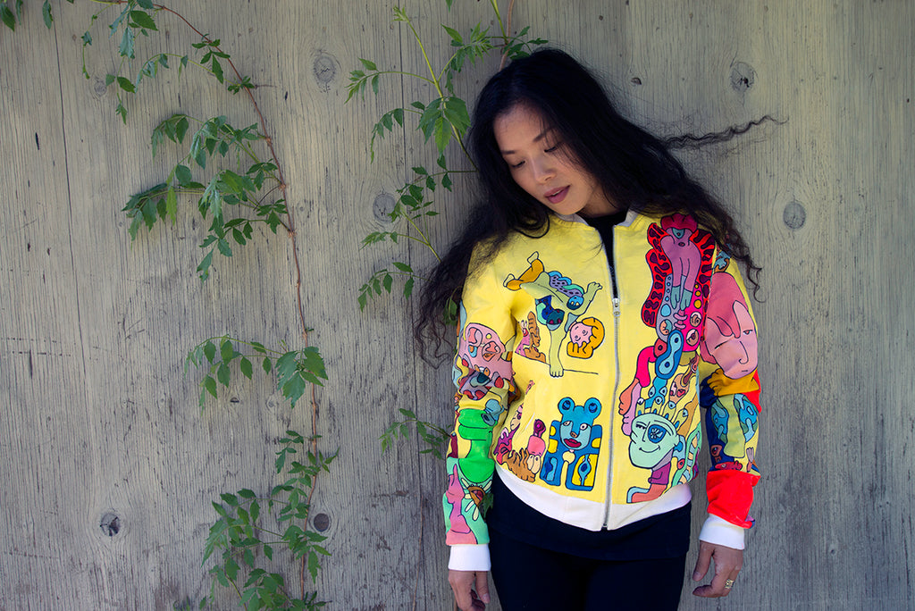 Hand Painted Spring Jacket