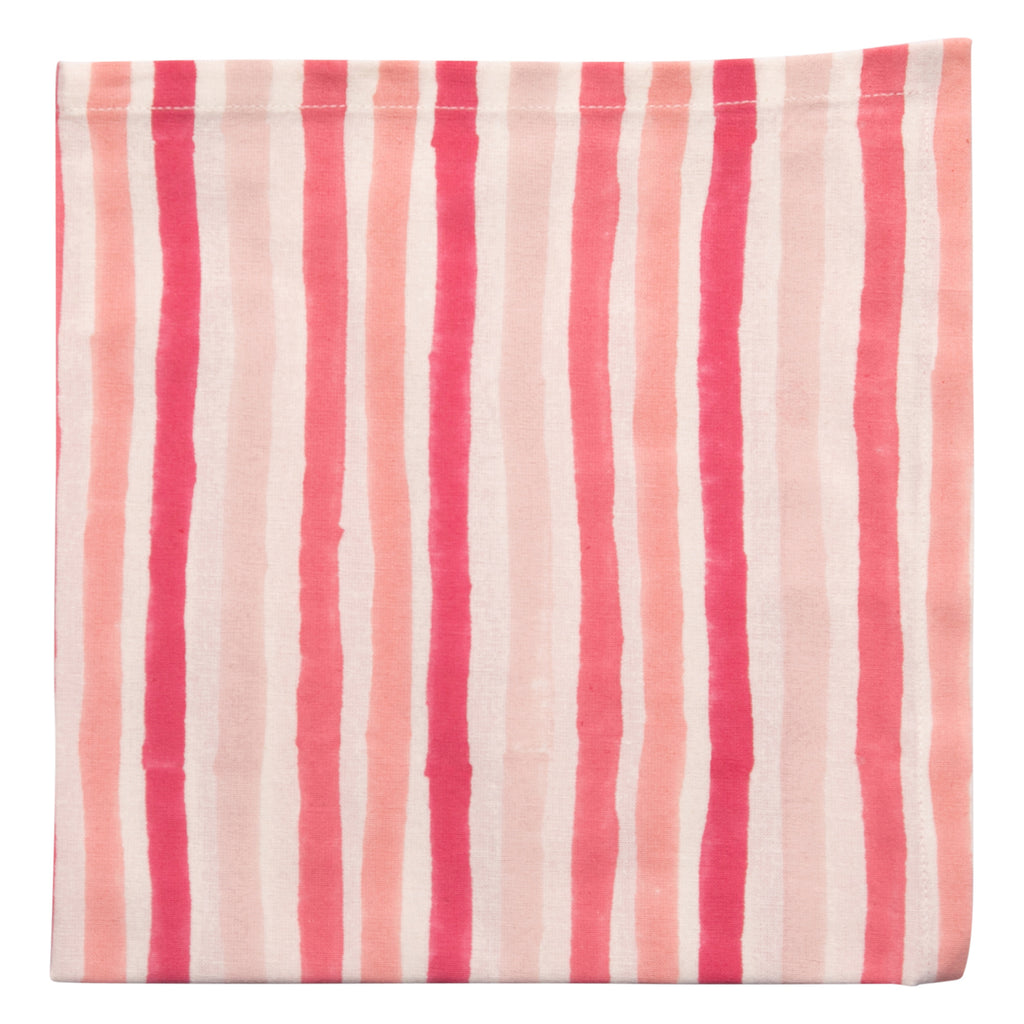 Painterly Stripe Napkin Set 6