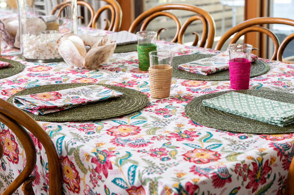 Castaway Floral Tablecloth 12 Seater