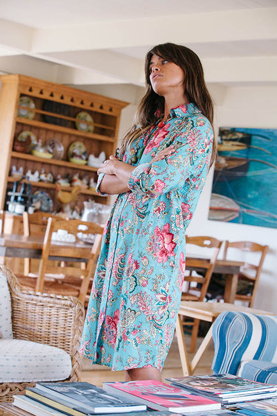 TAHITIAN GARDEN SHIRTDRESS