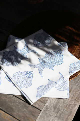 FISH NAPKIN SET OF 6
