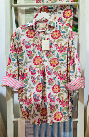 CASTAWAY FLORAL LONG SHIRT - SALE