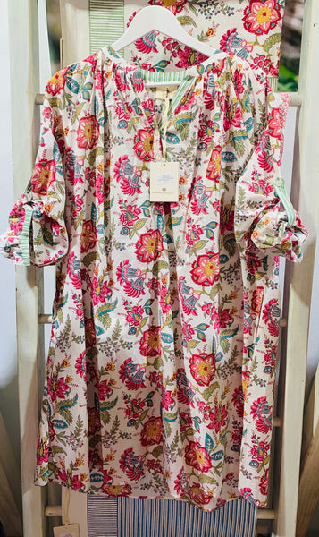 CASTAWAY FLORAL SHIRTDRESS - SALE