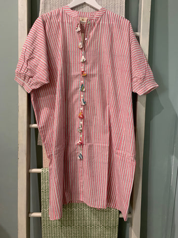 CASTAWAY STRIPE SHIRTDRESS - SALE