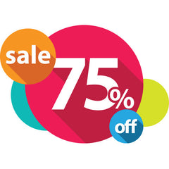 Closeout Items now 75% off!