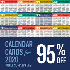 2020 Calendar Cards are 95% off!