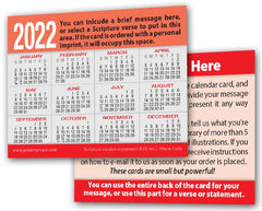 Calendar Card Tracts