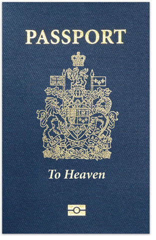 Passport To Heaven (NLT, Canadian Cover)