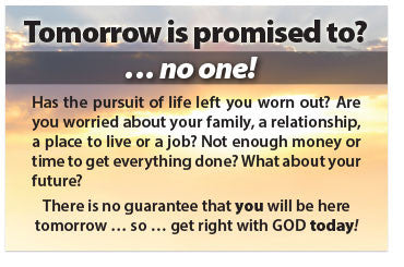Tomorrow Is Promised To? (NKJV) (Preview page 1)