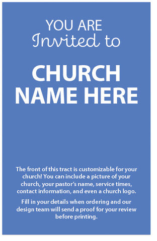 You Are Invited To (Customizable Church Invitation)