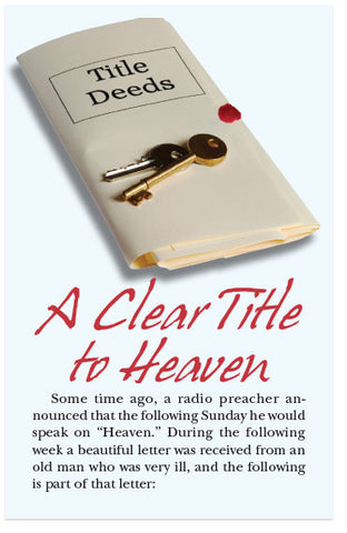 A Clear Title to Heaven (KJV) (Preview page 1)