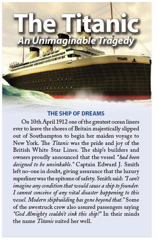 The Titanic: An Unimaginable Tragedy (KJV) (Preview page 1)
