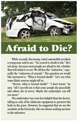 Afraid to Die? (KJV) (Preview page 1)