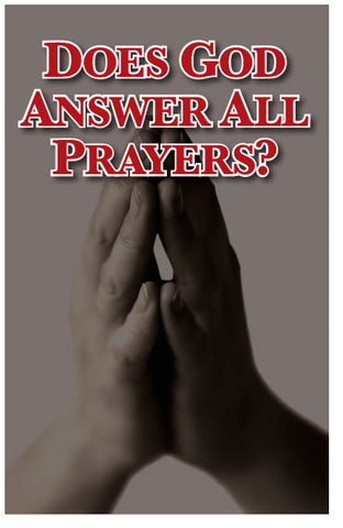Does God Answer All Prayers? (NIV) (Preview page 1)