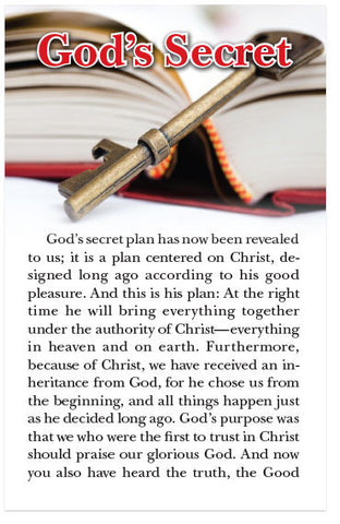 God's Secret (NLT) (Preview page 1)