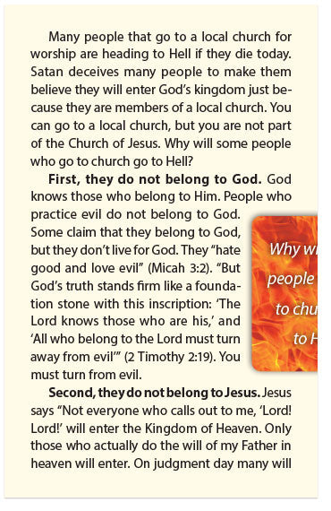 Church Members in Hell (NLT)