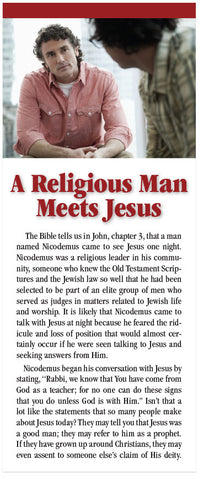 A Religious Man Meets Jesus (NASB) (Preview page 1)