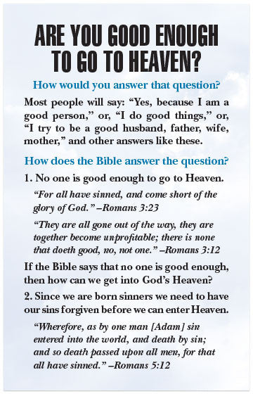 are you good enough to go to heaven kjv moments with the book