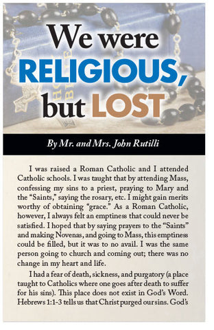 We Were Religious, But Lost (KJV) (Preview page 1)