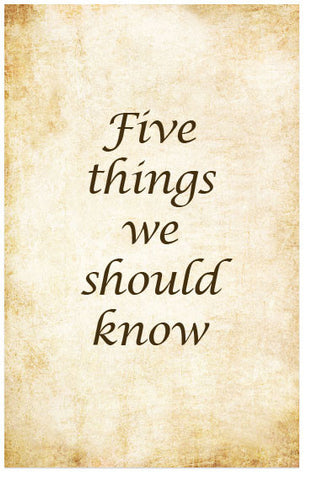 Five Things We Should Know (Preview page 1)