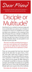 Dear Friend: Disciple or Multitude? (Preview page 1)