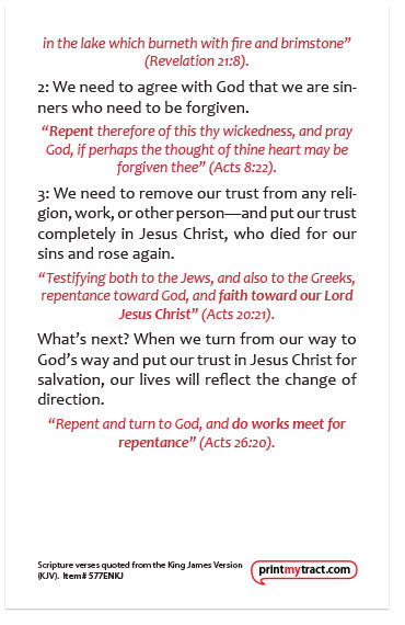 Repent And Believe: The Gospel of Jesus Christ (KJV) – Moments With ...