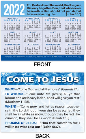Calendar Card: Come to Jesus