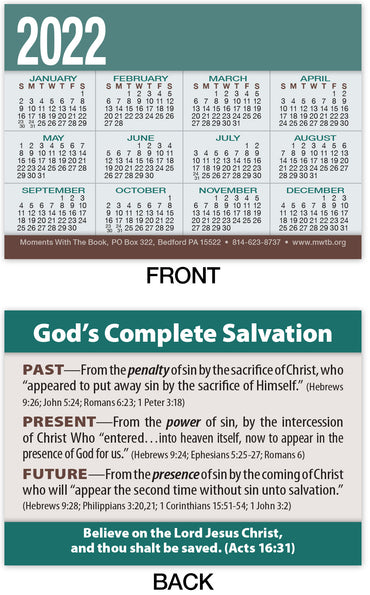 Calendar Card: God's Complete Salvation (Personalized)